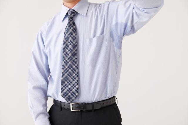 男性ワキの汗シミ