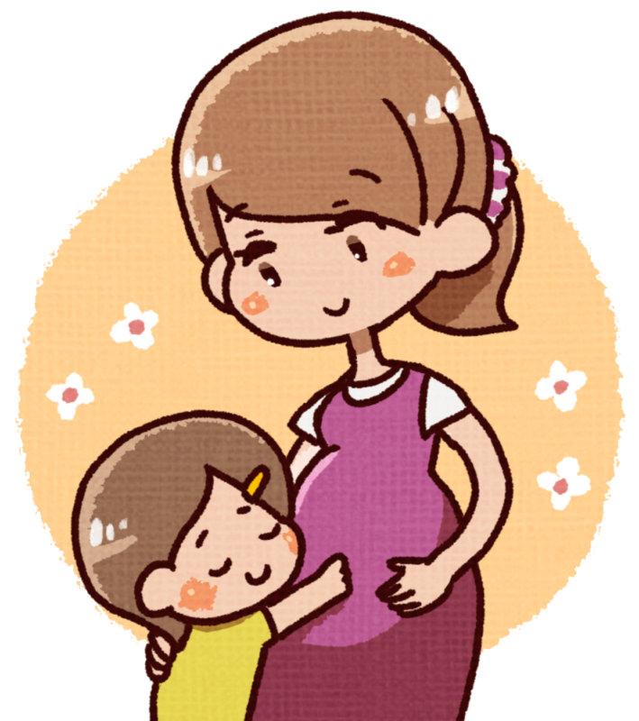 子供と妊婦さん